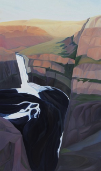 "Palouse Falls Canyon (WA) :: 60 x 36"" oil on wood :: 2016"