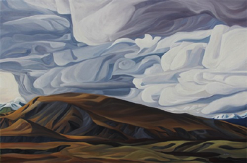 "Storm Over Eielson ~ Denali NP :: 48h x 72w"" oil on panel :: 2015"