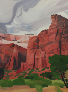 "Big Bend ~ Zion NP (UT) :: 48h x 36w"" oil on wood :: 2017"
