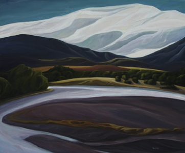 "Paradise Valley (MO) :: 30h x 36w"" oil on wood :: 2012"