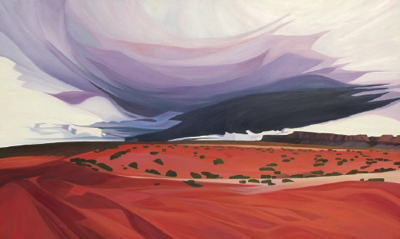 "Storm Over Vermilion Cliffs ~Vermilion Cliffs National Monument (AZ) :: 36h x 60w"" oil on wood :: 2017"