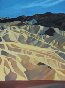 "Zabriskie Point ~ Death Valley NNP (CA) :: 48h x 36w"" oil on wood :: 2017"