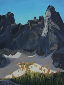 "Liberty Bells - North Cascades NP :: 40 x 30"" oil on wood :: 2017"
