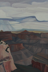 "Cape Final ~  (North Rim) Grand Canyon NP (AZ) :: 36h x 24w"" oil on wood :: 2017"
