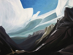 "North Cascades ~North Cascades NP :: 25h x 33w"" oil on wood :: 2012"
