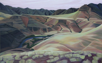 "Imnaha Canyon (OR) : 36 x 48"" oil on wood :: 2015"