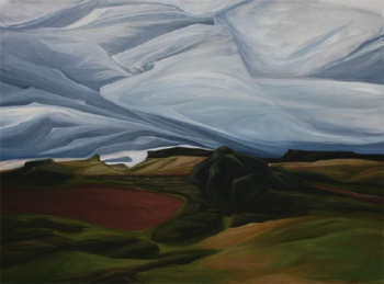 "Storm Upon the Palouse (WA) :: 30h x 40w"" oil on wood :: 2012"