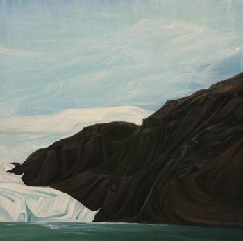 Barry Glacier (Prince Williams Sound) :: 60 x 60: oil on wood :: 2014