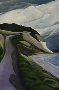 Hill Road~Ebey's Landing :: 36h x 24w' oil on wood :: 2012